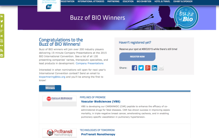 Buzz of BIO Website 2